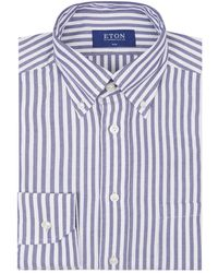 Eton of Sweden - Oxford Striped Shirt - Lyst