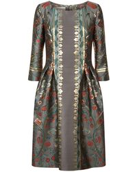 Alberta Ferretti - Floral Embroidered Dress - Lyst