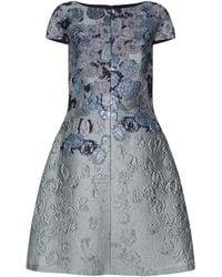 St. John - Metallic A-line Dress - Lyst