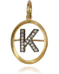 Annoushka - Alphabet K Pendant - Lyst