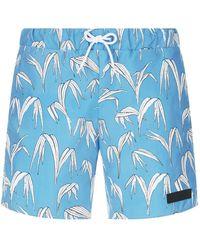 Sandro - Palm Print Swim Shorts - Lyst