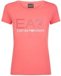 Armani - Logo T-shirt - Lyst