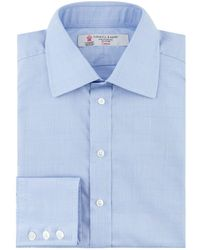 Turnbull & Asser - Prince Of Wales Check Formal Shirt - Lyst