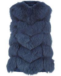 Max & Moi - Fox Fur Nollita Gilet - Lyst