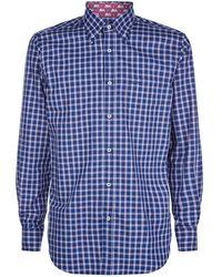 Paul & Shark - Check Cotton Shirt - Lyst