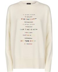 Theory - Embroidered Jumper - Lyst