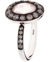Annoushka - Dusty Diamonds Rose Quartz Ring - Lyst