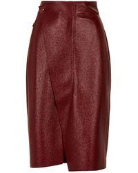 Akris - Leather Pencil Skirt - Lyst