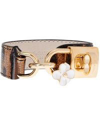 Dolce & Gabbana - Leopardprint Leatherbracelet - Lyst