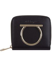Ferragamo - Leather Gancini French Wallet - Lyst