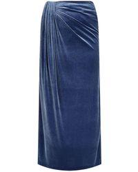 Basler - Velvet Maxi Skirt - Lyst