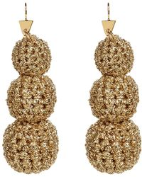 Lucy Folk - Crochet Ball Drop Earrings - Lyst