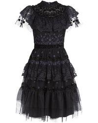 Needle & Thread - Cinderella Tiered Lace Dress - Lyst