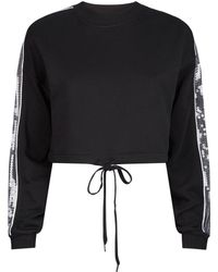 86253ccc7a Fyodor Golan - Night Dive Sequin-embellished Cropped Cotton-jersey  Sweatshirt - Lyst