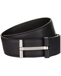 Tom Ford - T Buckle Leather Belt - Lyst