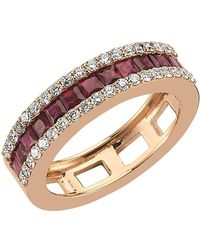 Bee Goddess   Mondrian Ruby And Diamond Ring, Red, One Size   Lyst