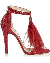 Jimmy Choo - Viola 110 Crystal Sandals - Lyst