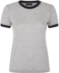 Rag & Bone - Brighton Lurex Trim T-shirt - Lyst