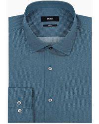 BOSS - Circle Print Shirt - Lyst