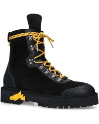 Off-White c/o Virgil Abloh - Suede Hiking Boots - Lyst
