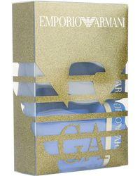 Armani - Logo Waistband Trunks (pack Of 2) - Lyst