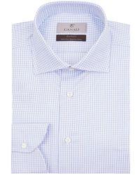 Canali - Grid Check Shirt - Lyst