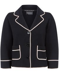Armani - Piped Trims Jacket - Lyst