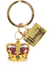 Harrods - Crown Keyring - Lyst