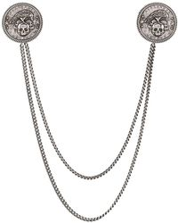 Alexander McQueen - Crow And Skull Medallion Chain Pin - Lyst