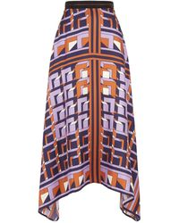 Amanda Wakeley - Silk Asymmetric Hem Skirt - Lyst