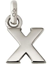 Links of London - Sterling Silver Letter X Charm - Lyst