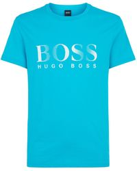 BOSS - Uv Protected Logo T-shirt - Lyst