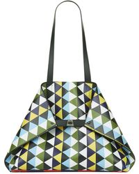 25c5b868e6 Lyst - Akris Ai Medium Laser-cut Leather Shoulder Bag in Natural