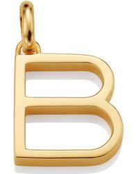 Monica Vinader - Gold Capital B Pendant - Lyst