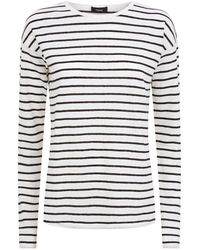 Theory - Long Sleeve Striped T-shirt - Lyst