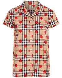 Burberry - Short Sleeve Pyjama Top - Lyst