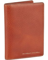 Brunello Cucinelli - Leather Travel Wallet - Lyst