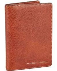 Brunello Cucinelli - Leather Travel Wallet - Lyst