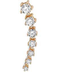 Bee Goddess - Rose Gold And Diamond Mondrian Ear Cuffs - Lyst