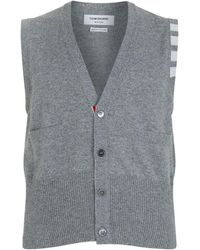 Thom Browne | Classic V-neck Vest Cardigan | Lyst