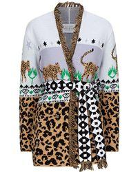 Hayley Menzies - Leopardess Palm Fray Short Cardigan - Lyst