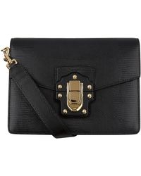 bf762d629cdd Lyst - Dolce   Gabbana Lucia Python-trimmed Two-tone Leather ...