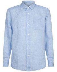 Derek Rose - Linen Shirt With Pocket - Lyst