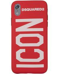 DSquared² - Icon Slogan Iphone X Case - Lyst