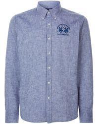 La Martina - Slim Fit Embroidered Shirt - Lyst