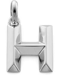 Monica Vinader - Sterling Silver Capital H Pendant - Lyst