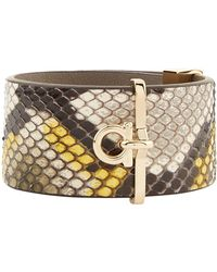 Ferragamo - Python Cuff Bracelet - Lyst