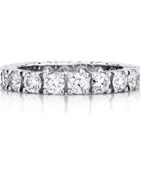 De Beers - Platinum And Diamond Classic Eternity Band (3mm) - Lyst