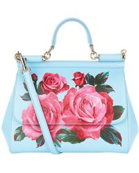 Dolce & Gabbana - Small Sicily Rose Top Handle Bag - Lyst