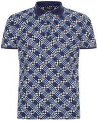 Fendi - Damier Check Polo Shirt - Lyst